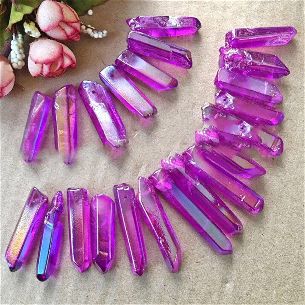 1 Pc mode naturel Fluorite Quartz cristal pierre coloré pierre collier strass irrégulière fabrication de bijoux à breloques