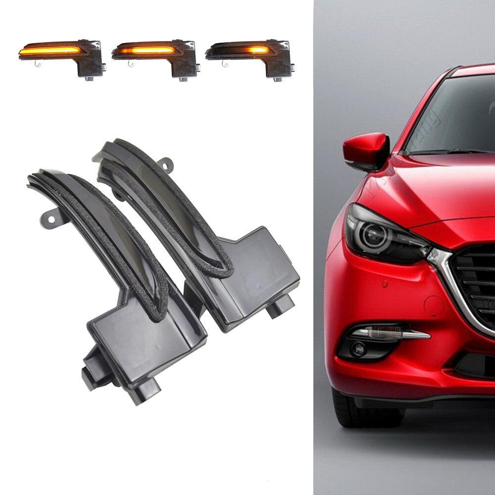 LED dynamiczny kierunkowskaz migacz sekwencyjny boczny kierunkowskaz w lusterku światło dla Mazda3 Mazda 3 Axela Mazda6 Mazda 6 Atenza 2017 2018