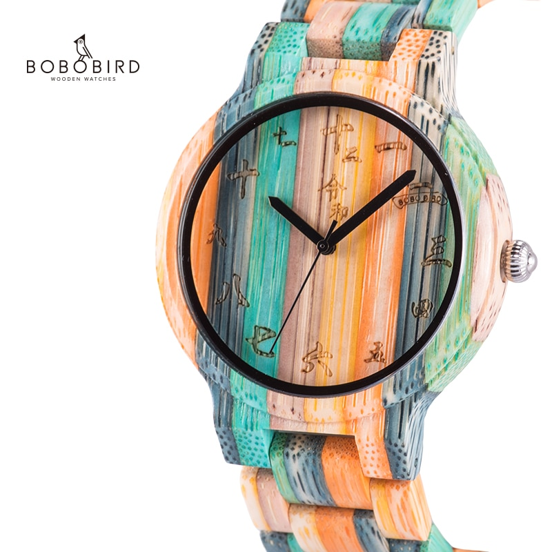 بوبو الطيور الرجل ساعة خشب للنساء زوجين الكوارتز Fngeen المعصم ブレスレットrelogios masculinos دي luxo الأصلي في هدية مربع