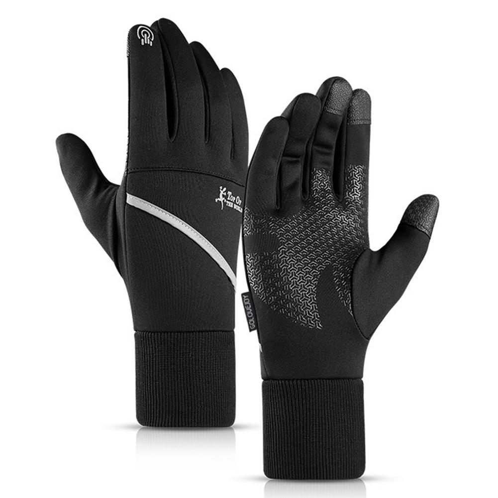 2020 New Outdoor Sports Gloves Touch Screen Anti-slip Warmer Cycling Thicken Fashion Solid Mitten Fo