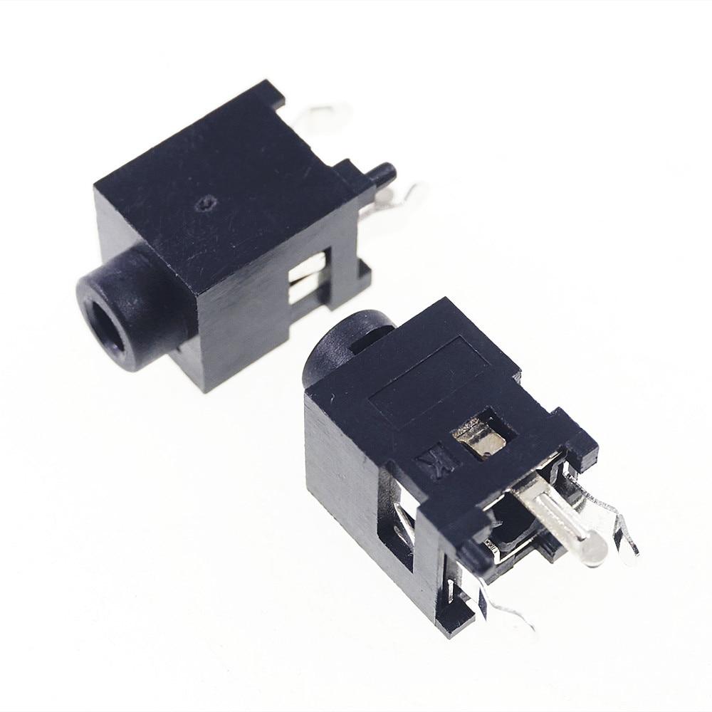 1000 قطعة الهاتف جاك قطر 2.5 مللي متر 3 دبوس أحادية قناة المقبس 2 القطب سماعة التوصيل العمودي من خلال ثقب الزاوية اليمنى DC30V 0.5A