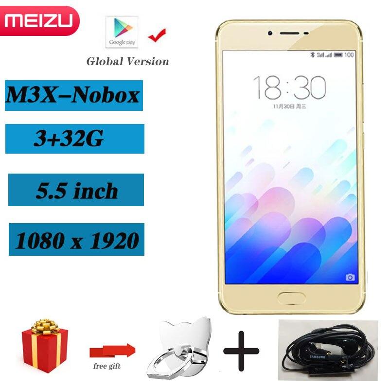 Meizu-teléfono inteligente M3X 3G 32G, Original, versión Global, cámara Dual, Batería grande...