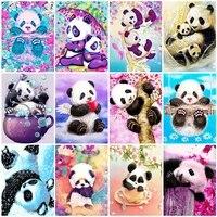 Evershine     peinture diamant theme Animal  broderie complete 5D  theme Panda  mosaique  image en strass  a faire soi-meme  decoration dinterieur