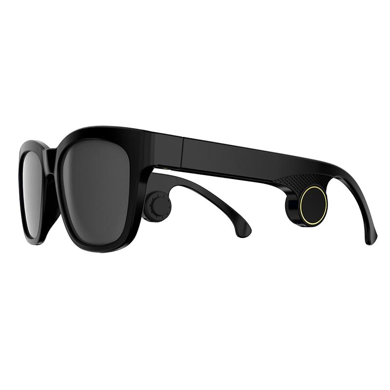 Bone conduction audio glasses bluetooth call music sunglasses waterproof lightweight glasses prescription lens customization enlarge