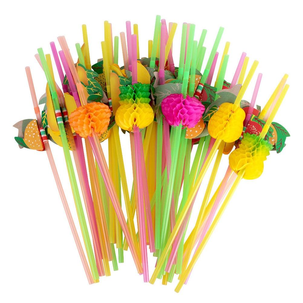 50 unids/pack desechables arco iris con forma de panal pajas de beber tontos decoración para fiesta de boda adorno de utilería