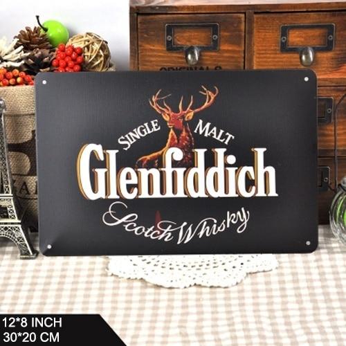 Cartel de Whisky Vintage para decoración de pared, placa de estaño Retro,...