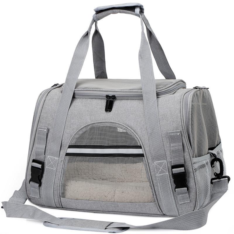 Pet travel backpack outdoor portable one-shoulder pet bag handbag foldable breathable mesh waterproof backpack dog cat bag недорого