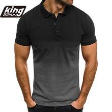 KB גברים פולו גברים חולצה קצר שרוול פולו חולצה ניגוד צבע פולו חדש בגדי קיץ Streetwear מקרית אופנה גברים חולצות