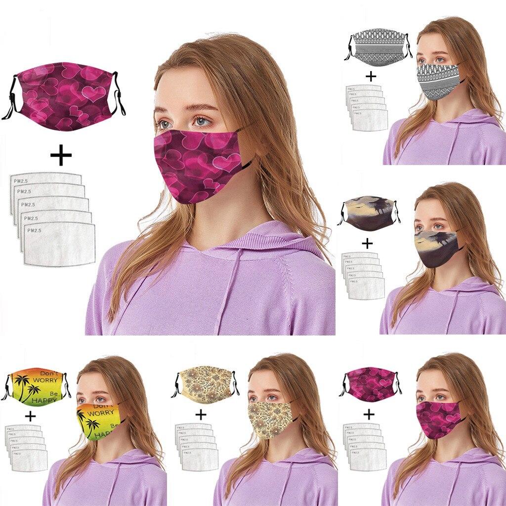 Модный 3d Печатный Сменный фильтр-чип Maska мягкий бандана головной убор Pm25 Mascarillas Breathe Facemask Модный чехол для лица