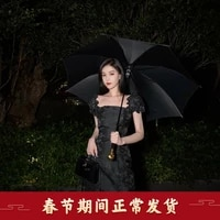 cheongsam improved version with foam sleeve suspender dress 2021 new autumn and winter girl