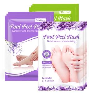 Foot Mask Socks Exfoliating Foot Spa Bath Mask Peeling Scrub Pedicure Foot Patch Moisturizer Dead Skin Remover