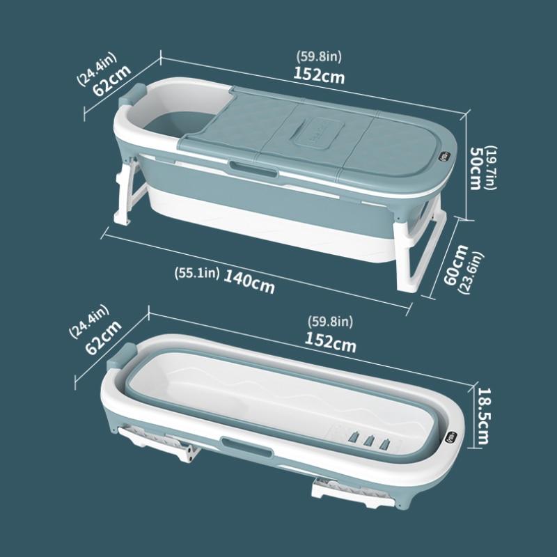 Infant Shining Baby Bathtub Adult 1.52M Bathtub Temperature Display Foldable Portable Thickened Large Household Bath Barrel enlarge