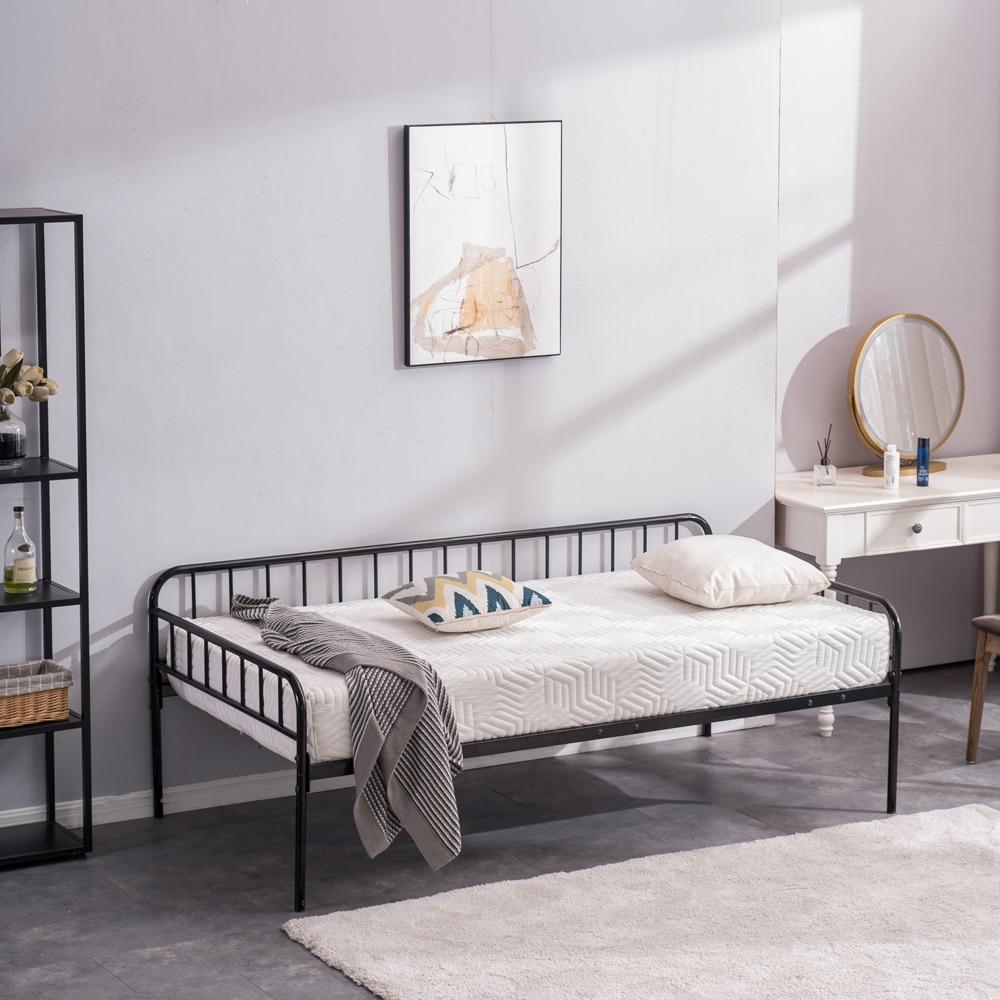 إطار سرير معدني سرير مزدوج إطار أثاث غرفة نوم 76.97x40.94x25.29-29.72