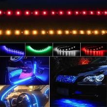 Lampe décorative bande LED Flexible lumière 5050 SMD 12V DC voiture décor à la maison 30cm lumière atmosphère lumière voiture accessoires