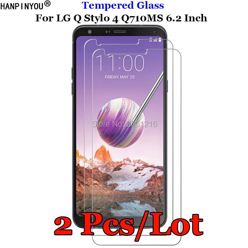 2 Pcs/Lot For LG Stylo4 Tempered Glass 9H 2.5D Premium Screen Protector Film For LG Q Stylo 4 Q710CS