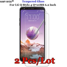 2 Pcs/Lot For LG Stylo4 Tempered Glass 9H 2.5D Premium Screen Protector Film For LG Q Stylo 4 Q710CS