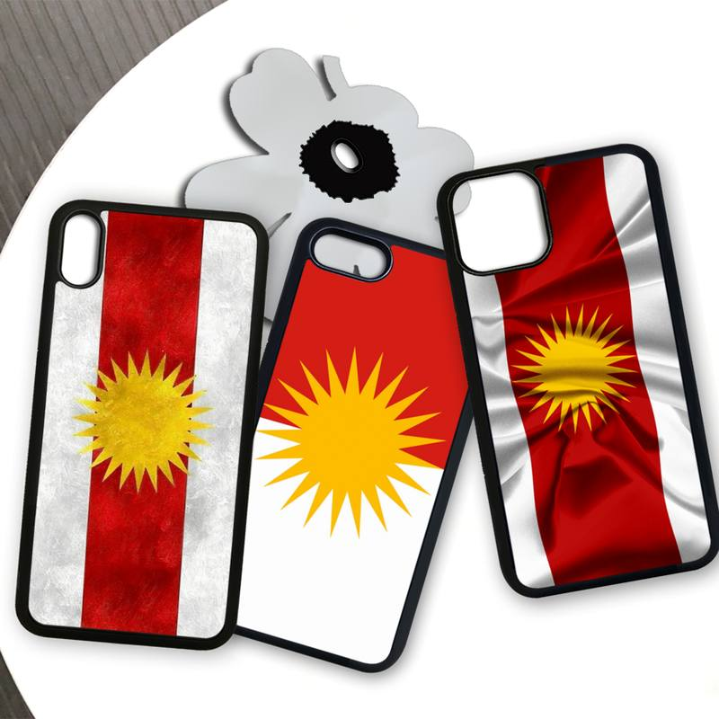 Yazidis Flag Phone Case For Samsung S9 S10 S20 Plus S21 S30 Ultra S7 S8 S10e Note 9 20 High Quality