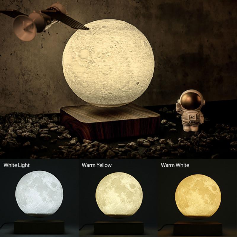 2021 Floating Magnetic Levitation Lights LED Moon Ball Lamp Lighting Office Home Decoration Novelty Lamp Night Light
