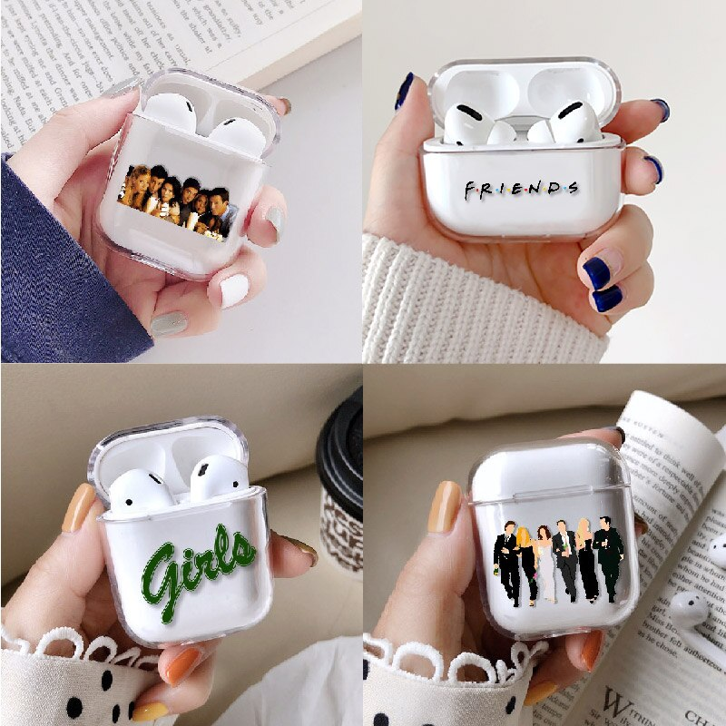 Funda para auriculares de TV Friends Girls para Apple iPhone caja de carga para AirPods Pro funda protectora dura transparente Accesorios