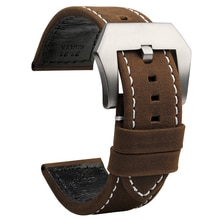 23mm High Quality Genuine Leather Watch Bands New Style Black Brown Cowhide Watch Strap for Zenith P