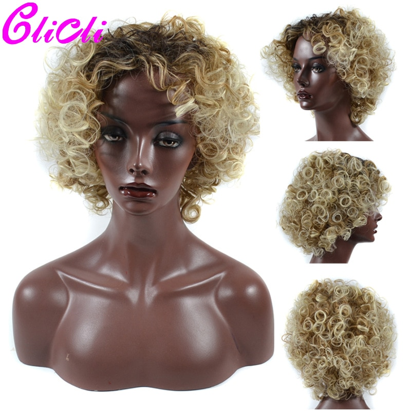 Bob corto Peluca de pelo humano rizado Ombre 1B gris T1B 613 pelucas de cabello humano para mujer negra pelucas de máquina completa 150% Peluca de Bob