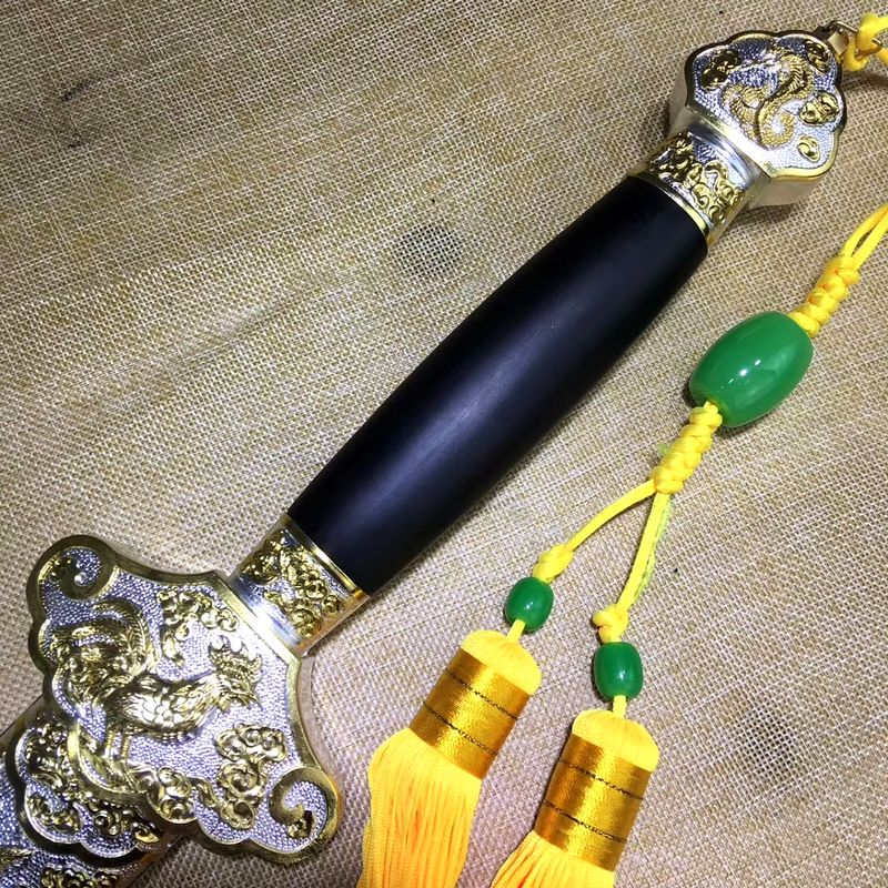 Espada forjada WUSHU temper hoja de acero al manganeso tai chi chino espada Saber Jian