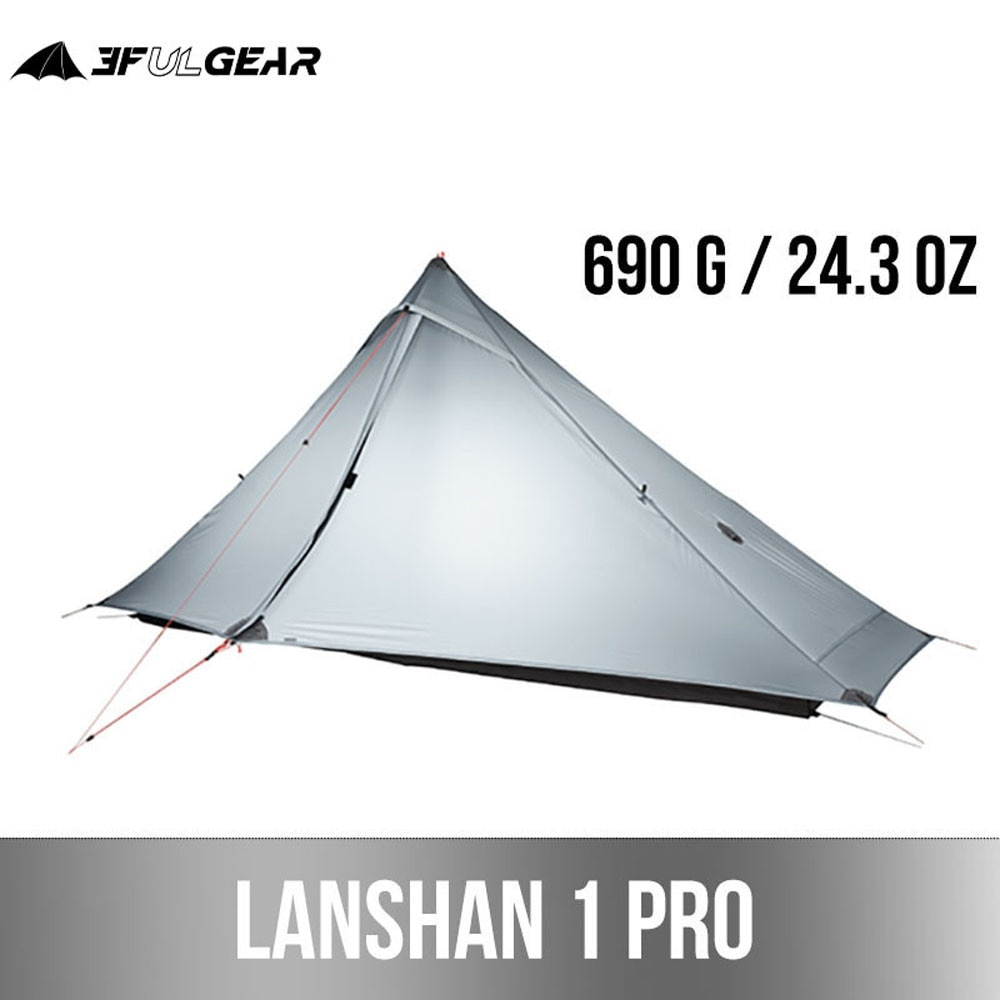 3F UL GEAR Lanshan 1 Pro Outdoor Tent 1 Person 3-4 Season Ultralight Hiking Camping  Professional 20D Rodless tent