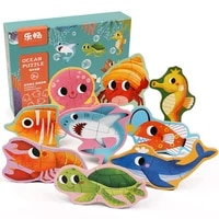 wooden baby big puzzles advanced toys cartoon animal characters cognitive children early learning intelligence development toys