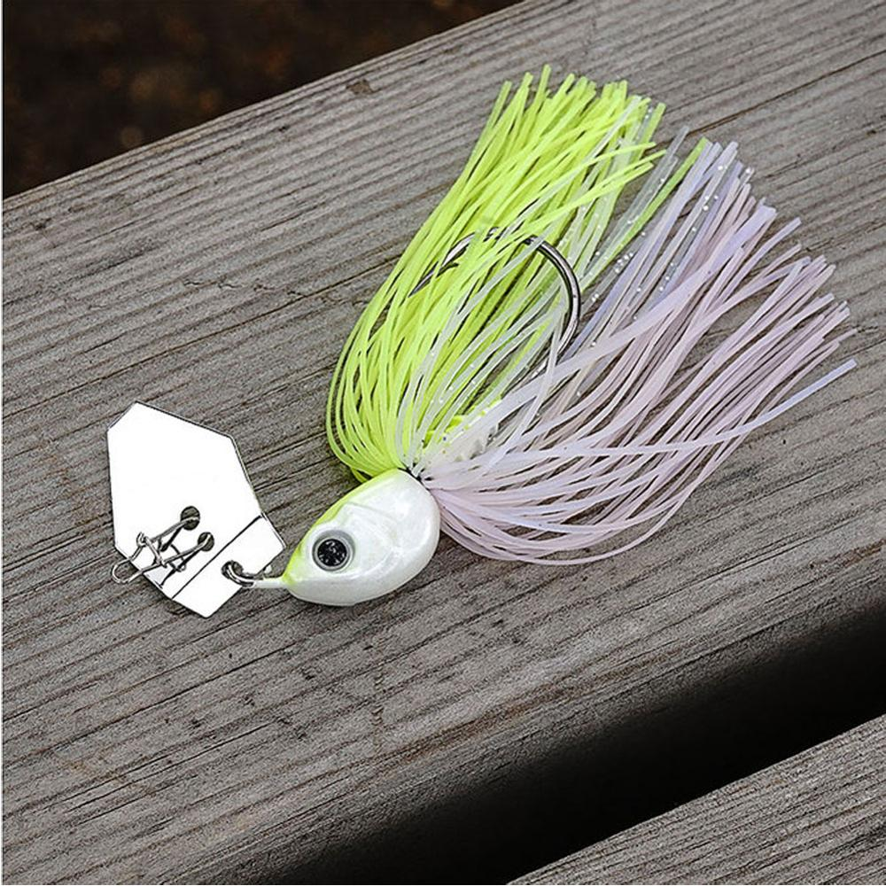 Sunmile White Chatterbait Jig Heads 14g 1/2Oz Chatter Baits Bass Fishg Weedless Blade Micro Mini Cha