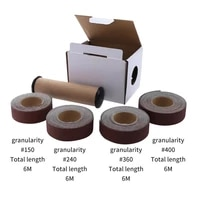 25600mm 4 rolls 150 400 multi roll assorted abrasive rolls wood grinding roll belts for wood turners furniture repair