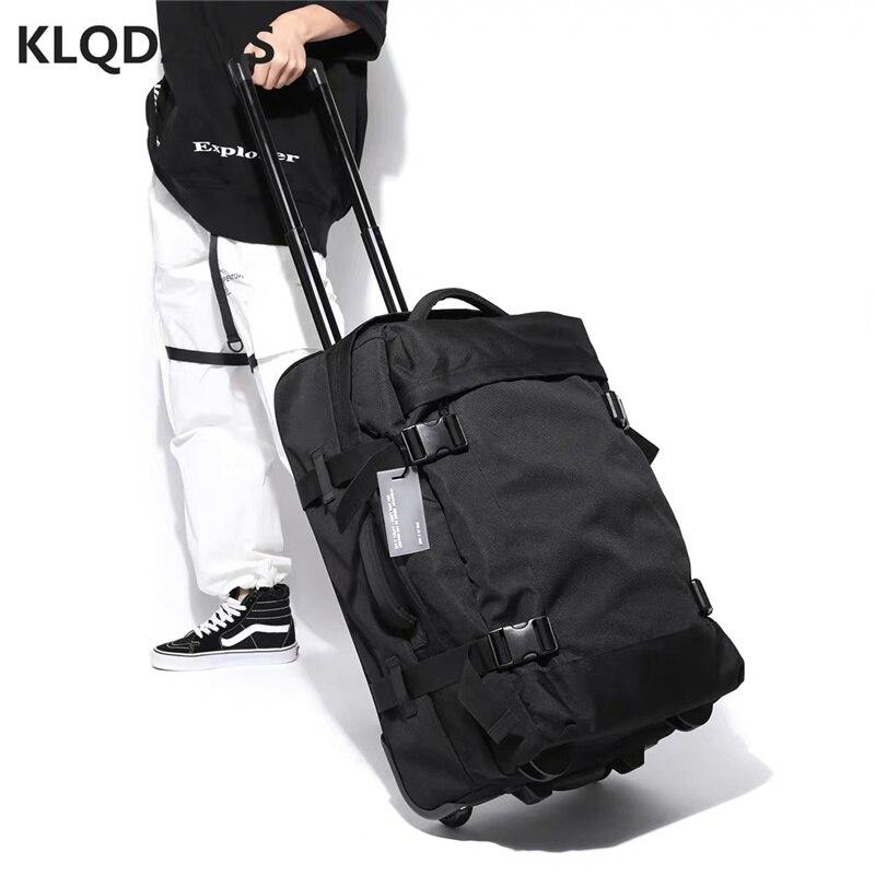 Повседневный чемодан на колесиках KLQDZMS, модные переносные дорожные сумки, вместительный чемодан на колесиках, рюкзак для спорта на открытом...