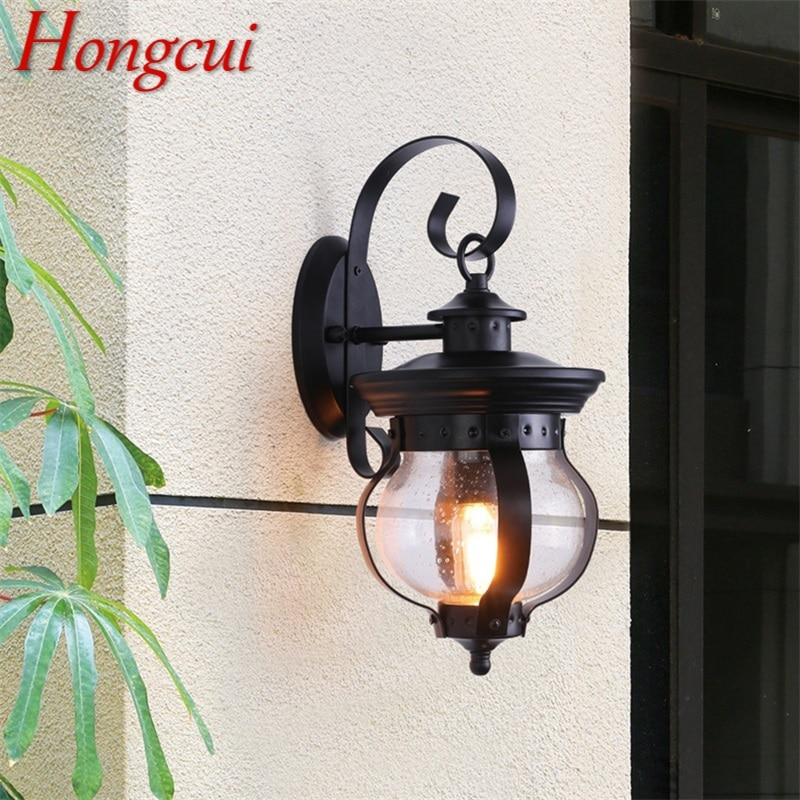 Hongcui Outdoor Retro Wall Light Classical Sconces Lamp Waterproof IP65 LED For Home Porch Villa