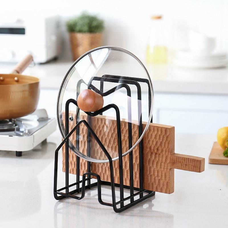 Estante de cocina para sartenes, soporte de tabla de cortar, organizador de...