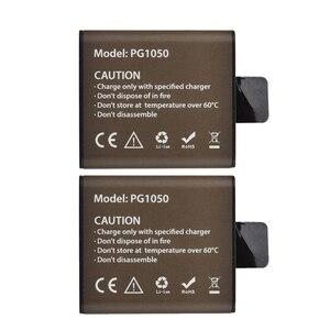 Аккумуляторная батарея для экшн-камеры EKEN H9 H9R H3 H3R H8PRO H8R SJ4000 SJCAM SJ5000 M10 SJ5000X, 1050 мАч, 2 шт.