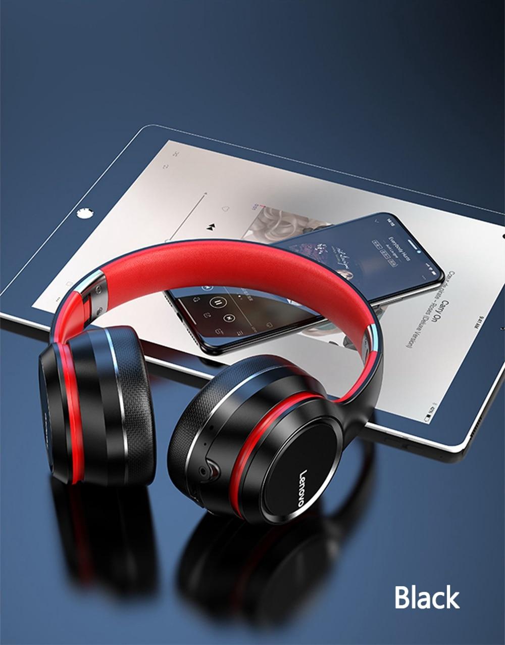 Lenovo HD200 Bluetooth Draadloze Stereo Hoofdtelefoon BT5.0 Lange Standby Leven Met Noise Cancelling Voor Xiaomi Iphone Lenovo Headset 21