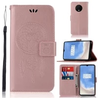 owl embossing luxury pu leather flip case for oneplus 7t capa smartphone cases sfor oneplus 7t wallet cover coque fundas