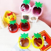 Children Cartoon Pineapple Shape Frame Sunglasses Baby Girl Boy Goggles Toy Glasses Outdoor Kids Sum