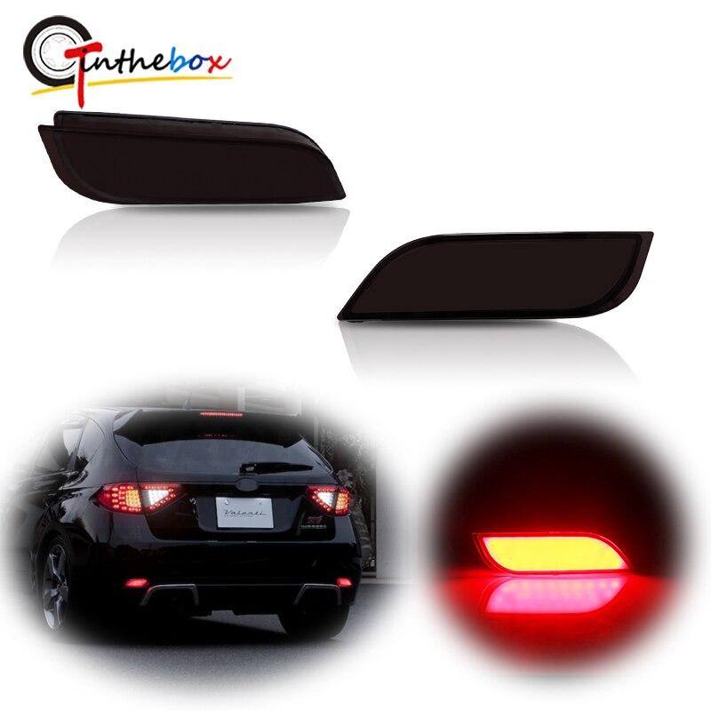Gtinthebox 2 uds., reflectores de parachoques LED rojos, luces antiniebla traseras para Subaru Impreza WRX STi XV, luces de freno/traseras