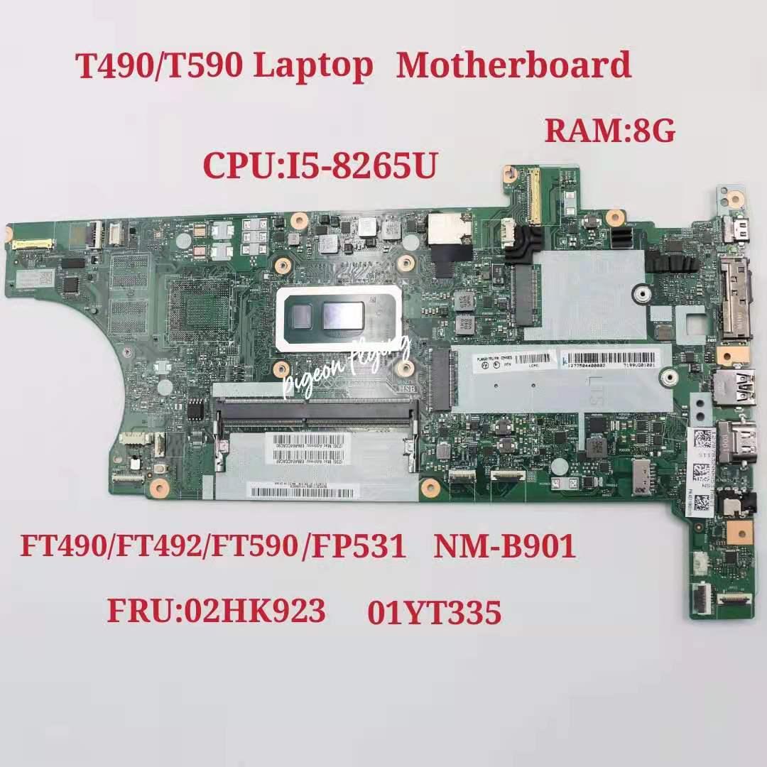 لينوفو ثينك باد T490 اللوحة المحمول مع I5-8265U 8GB-RAM FT490/FT492/FT590/FT591 NM-B901 FRU 02HK923 01YT335 100% اختبار