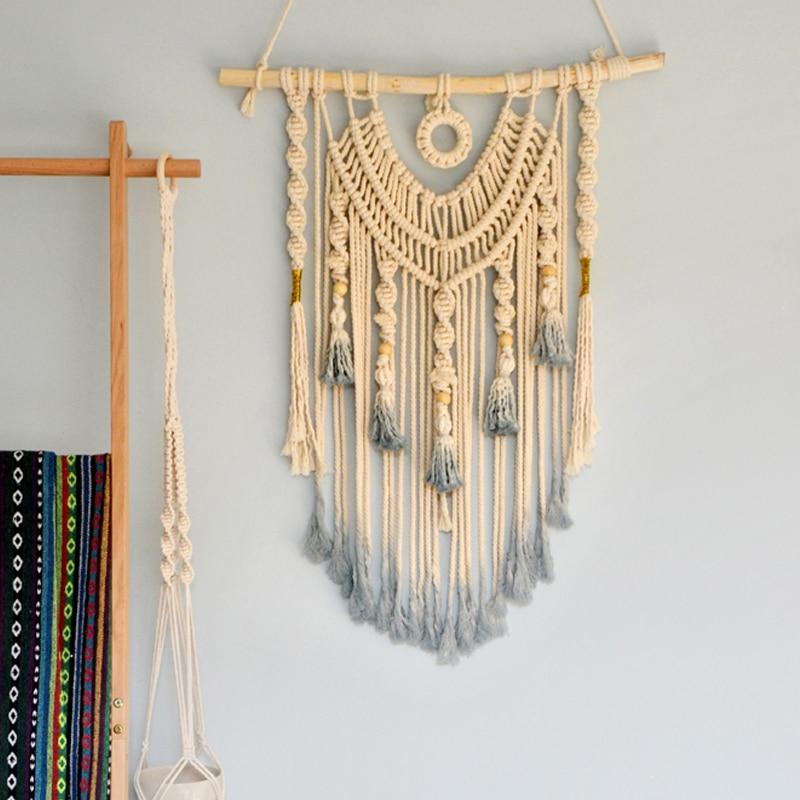 Hand-woven Macrame Wall Hanging Headboard Neutral Wall Decor Boho Decor Mandala Witchcraft Wall Tapestry Mexican Home Decor