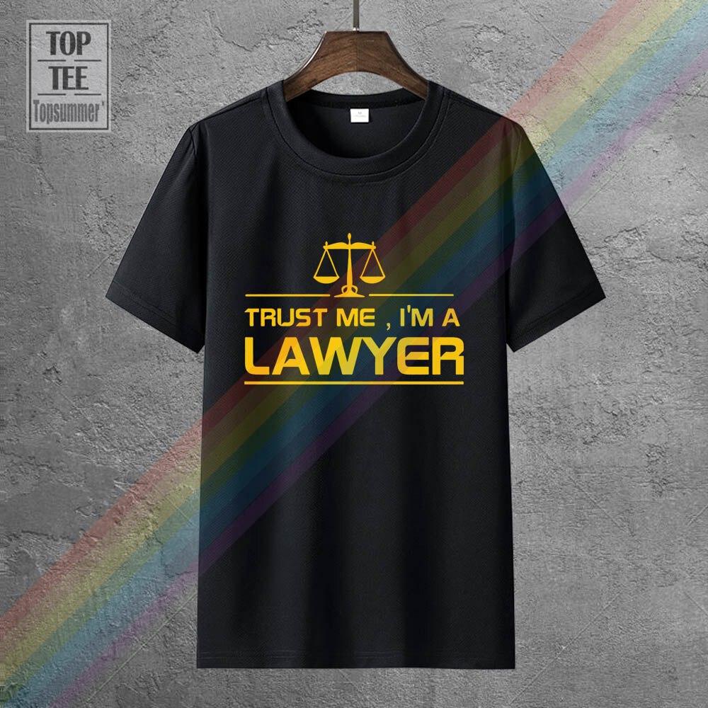 Новые Летние Стильные мужские футболки с надписью Trust Me, я-а-юрист, забавные хлопковые футболки с коротким рукавом, одежда