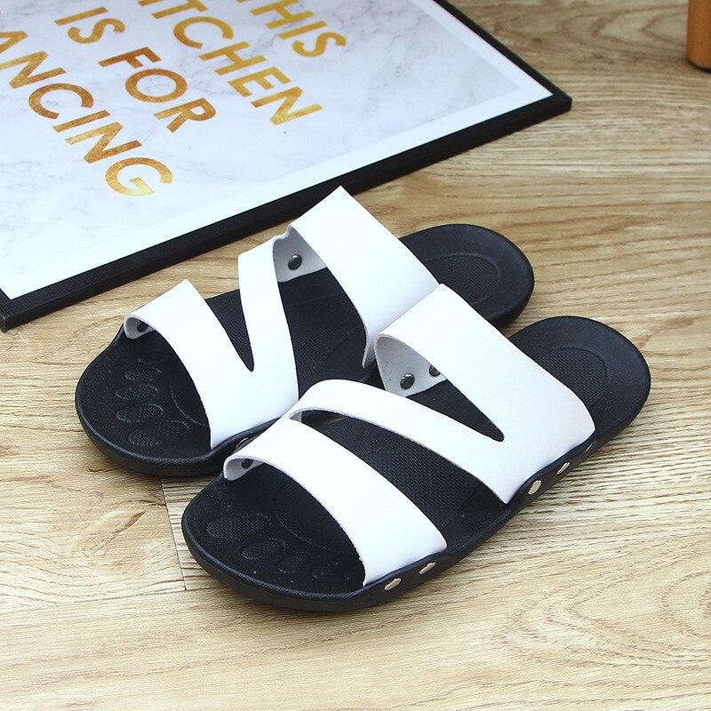 Verão homens slides deslizantes chinelos casa indoor sapatos casa praia fora chinelo chinelo sleepers macio venda quente grande eua tamanho 7.5-11