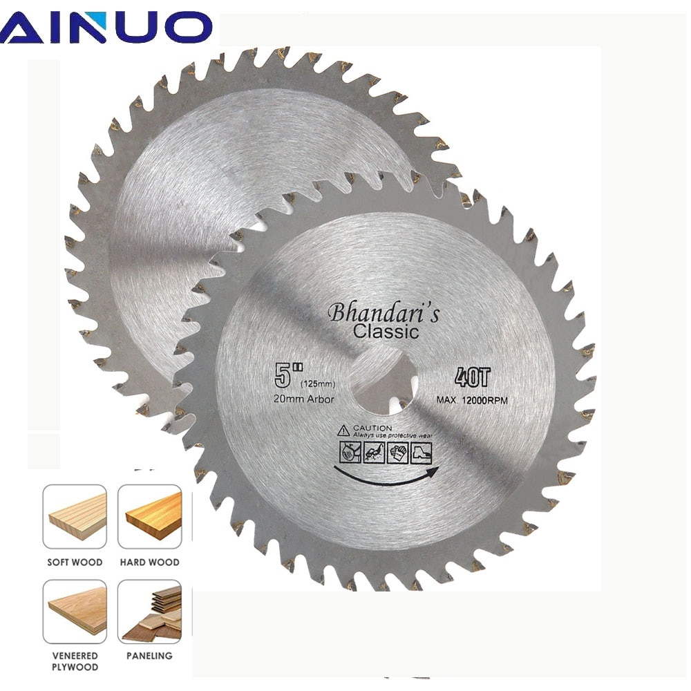 5 125mm TCT Circular Saw Blade Angle Grinder Carbide Tipped Wood Cutter Tool 40T Woodworking Cutting Disc tovia 125mm carbide saw blades wood cutting disk cutting wood saw disc multitool wood cutter angle grinder for wood