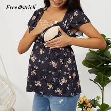 LONSANT 2020, camiseta de maternidad para lactancia, camiseta divertida para mujeres, camisetas para lactancia, ropa para embarazadas, camisetas para lactancia