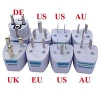 white 10a16a 250v universal travel adapter plug socket converter for au uk us eu german france korea swiss brazil south africa