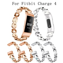 new Watch Bands for Fitbit Charge 4 sport watch Band Stainless Steel Metal Wrist Strap Women Jewelry