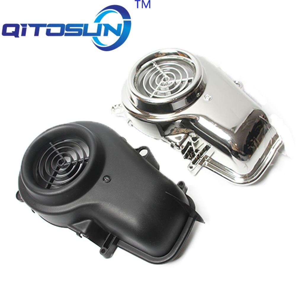 Accesorios de motocicleta para 5SU SA16J JOG50 ZR EVOLUTION, cubierta de ventilador cromado para motocicleta