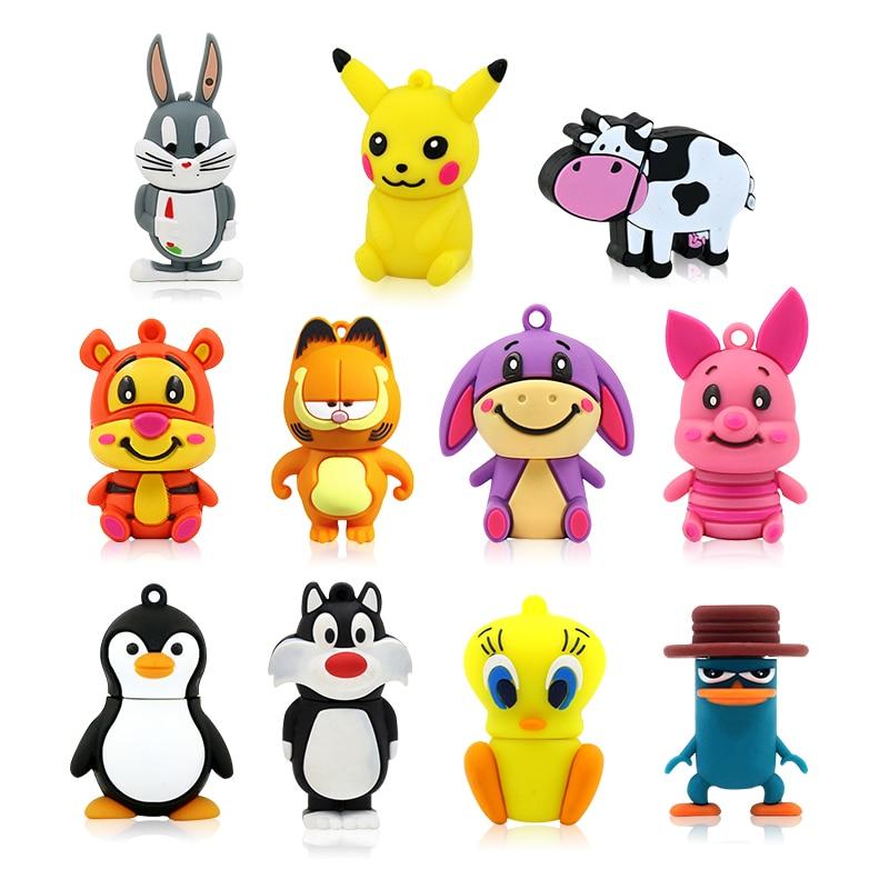 Memoria Flash USB con dibujos de animales, unidad flash con dibujos de...