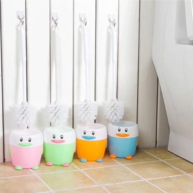 Bonito cepillo de baño con mango largo + soporte higiene de baño ABS cepillo de limpieza de baño cepillo de baño conjunto de cepillo de limpieza del hogar