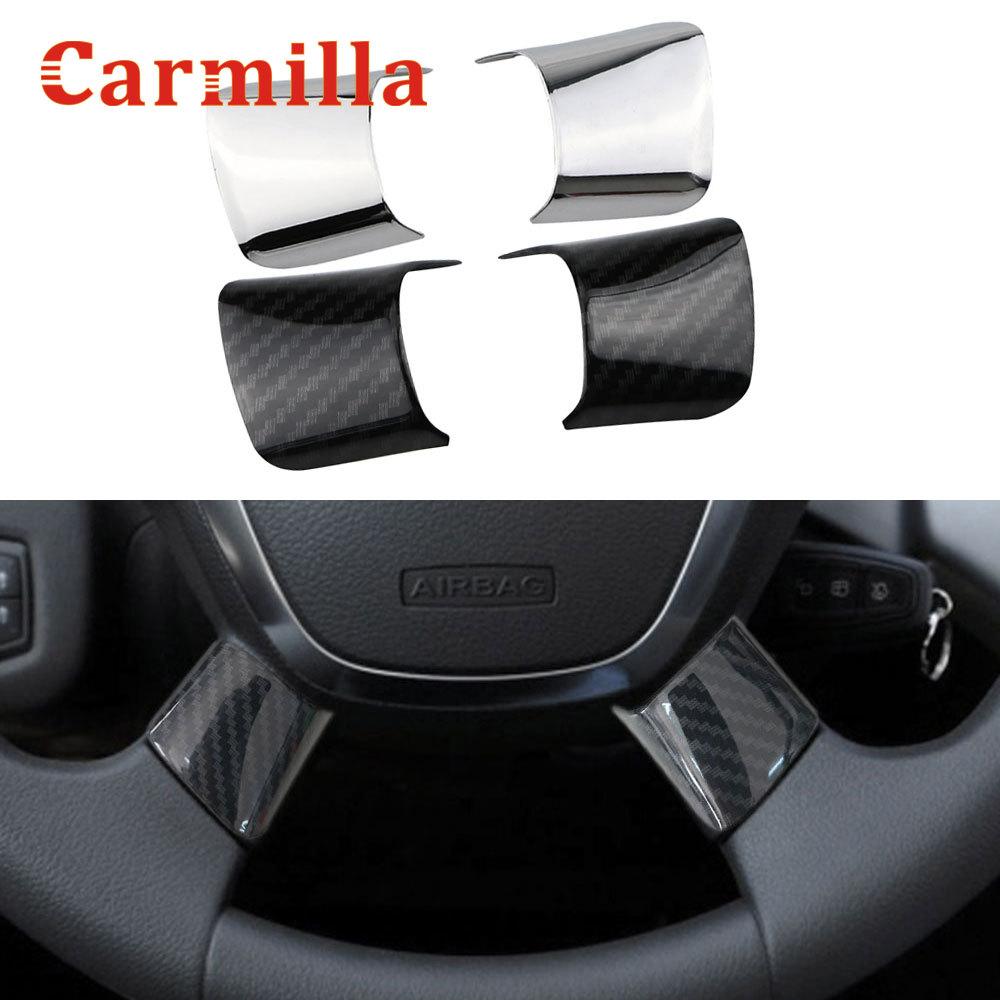 Carmilla Car Steering Wheel Cover Sequin Trim Sticker for Ford Cmax C-Max 2017 2018 Focus 3 Mk3 Kuga Escape 2012 2013 2014 2015